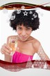 young woman holding a glass of champagne