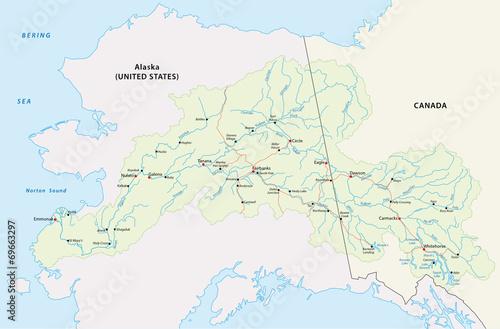 Map Of Canada Yukon River.Yukon River Karte Buy This Stock Vector And Explore Similar