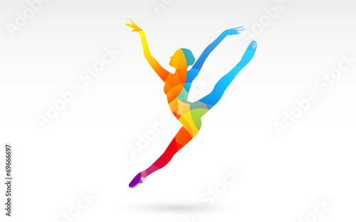 corpo, colori, fantasia, danza, ballerina Fototapete