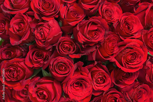 Tuinposter Roses Colorful flower bouquet from red roses for use as background.