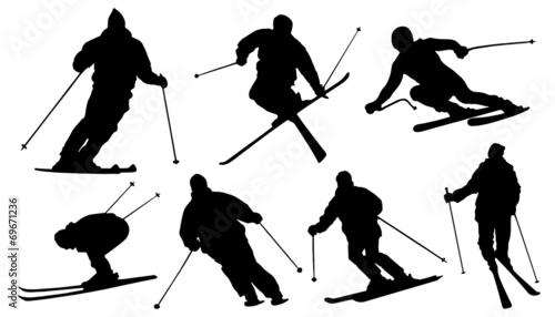 Fotografía  ski silhouettes