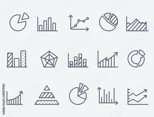Cuadros en Lienzo Business charts