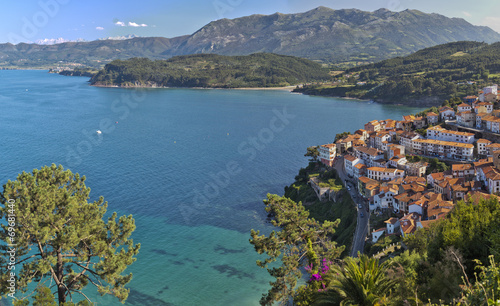 View Lastres, located  in Asturias, northern Spain. Wallpaper Mural