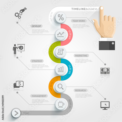 Business timeline infographic template vector illustration can business timeline infographic template vector illustration can flashek Images