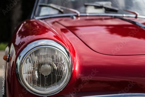 In de dag Vintage cars the splendor of the beautiful chrome of vintage cars