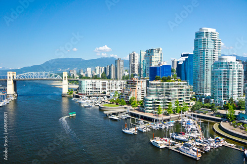 La pose en embrasure Canada Beautiful view of Vancouver, British Columbia, Canada