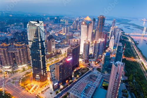 Foto op Canvas Brazilië Bird view at Shanghai China.