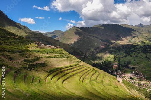 Pisac Incas ruins, Sacred Valley, Peru Fototapeta