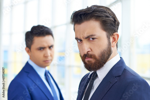 Fototapeta  Businessman frowning