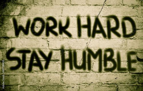 Work Hard Stay Humble Concept Poster
