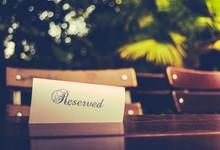 Vintage Reserved Restaurant Ta...