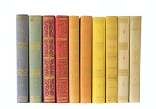 Row Of Books,multicolored, Iso...