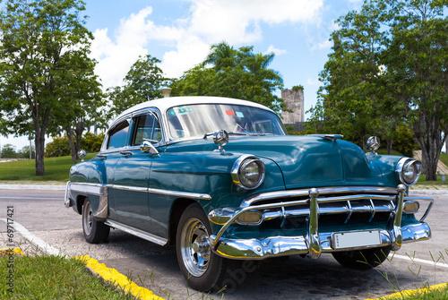 In de dag Havana Kuba Karibik amerikanischer Oldtimer