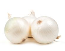 White Onion Salad Isolated