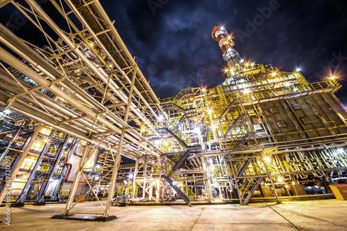 Staande foto Industrial geb. refinery