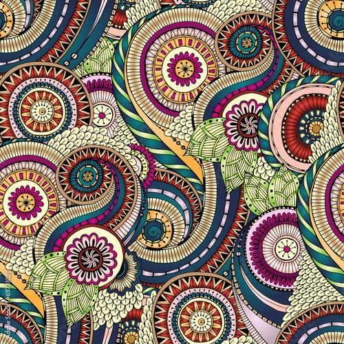 Papiers peints Artificiel Seamless flower retro background in vector.