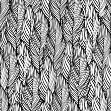 Outline Feather Seamless Pattern