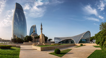 City View Of The Baku Capital Of Azerbaijan
