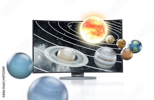 Fototapety, obrazy: 3D TV concept