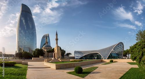 Photo City view of the Baku capital of Azerbaijan