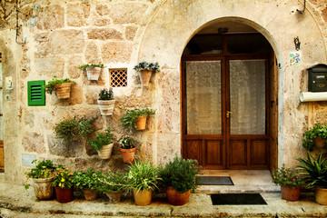 Fototapeta na wymiar House in village Valldemossa in Mallorca, Spain