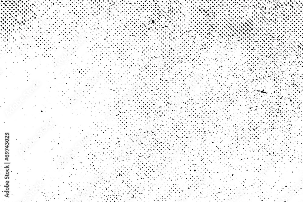 Fototapeta Grunge real organic vintage halftone vector ink print background