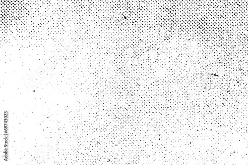 Fotografie, Obraz  Grunge real organic vintage halftone vector ink print background