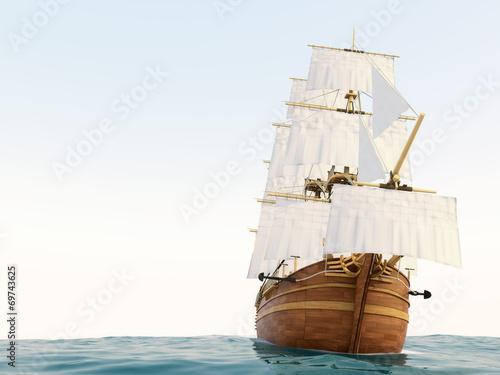 Fotografie, Obraz  帆船