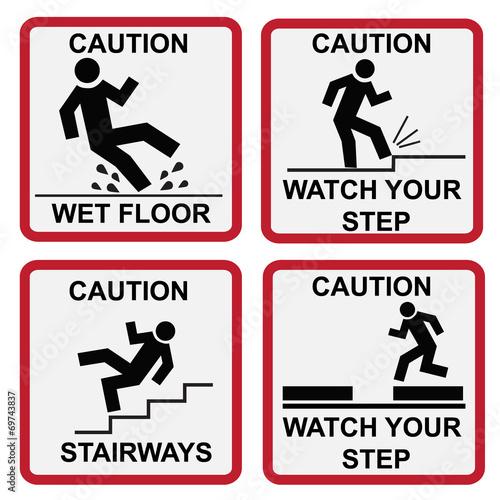 Fotografie, Obraz  Caution signs