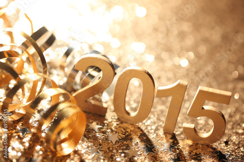 Poster  New year 2015 decoration