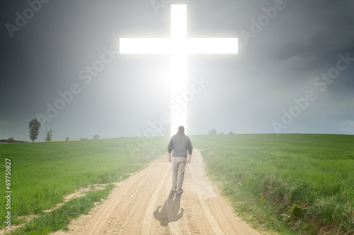 Fotografie, Obraz  Walk to the cross