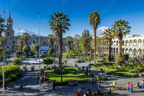 Photo Main plaza in Arequipa, Peru.