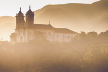 View Of The Unesco World Heritage City Of Ouro Preto In Brazil