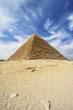canvas print picture Pyramids of Giza - Pyramid of Khafre  in Egypt
