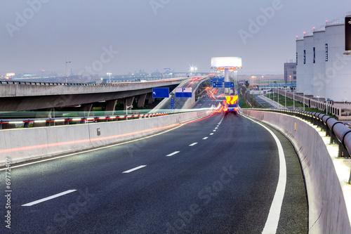 Foto op Plexiglas Motorsport highway and modern bridge