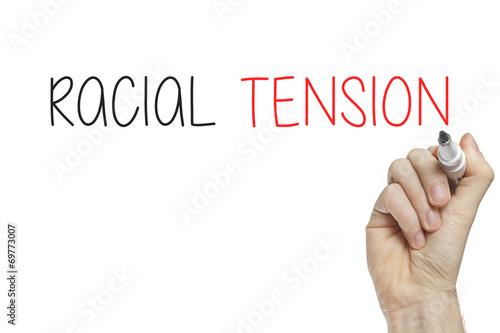 Fényképezés  Hand writing racial tension