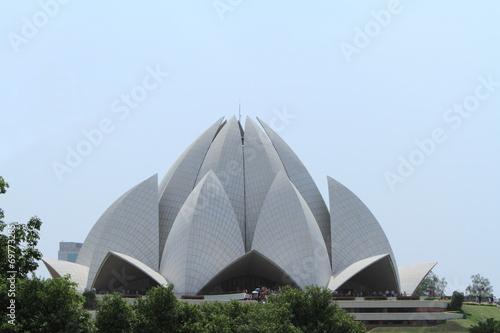 Staande foto India Lotustempel in Neu Dehli Indien