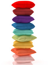 Group Of Multicolor Pillows On...