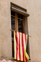 Catalan Flag In Window