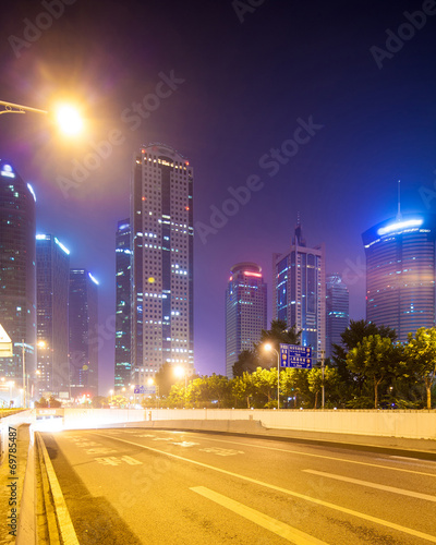 Foto op Plexiglas Chicago the modern building background in shanghai china.