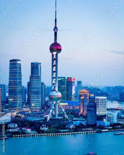 Foto op Aluminium Shanghai Shanghai Pudong skyline