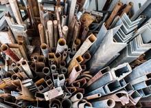 Piles Of Rusty Scrap Metal