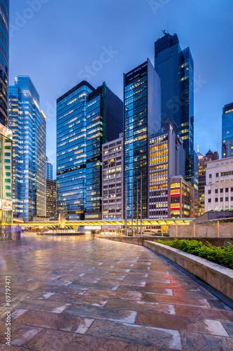 Fototapeten New York Architecture in Hong Kong