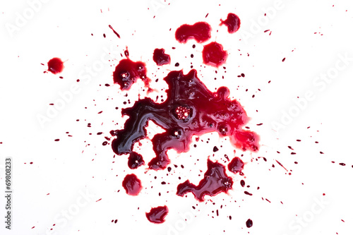 Fotografia Blood drip on white