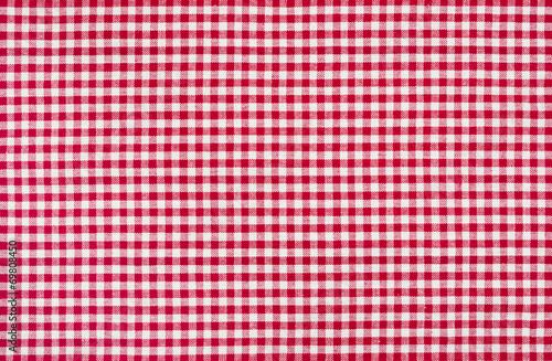 Fotografie, Obraz  Rot-weiß kariertes Tischtuch