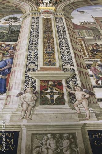 Papiers peints Retro Piccolomini Library - Duomo di Siena frescoes