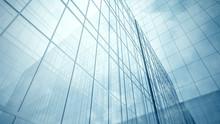 Skyscraper's Blue Glass Walls