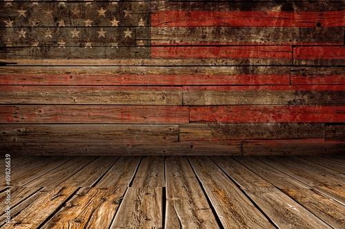 Obraz Wooden American Stage - fototapety do salonu