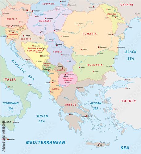 mapa-europy-poludniowo-wschodniej