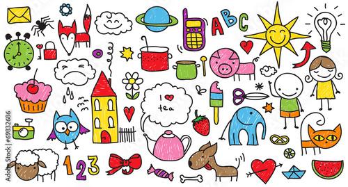 kolorowe-znaki-dla-dzieci-kreskowkowe-naklejki-i-rysunki
